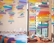 colours! DYI window shades: Vellum Mobile, Party Decoration, Colorful Mobiles, Paper Mobile, Rainbow Mobile