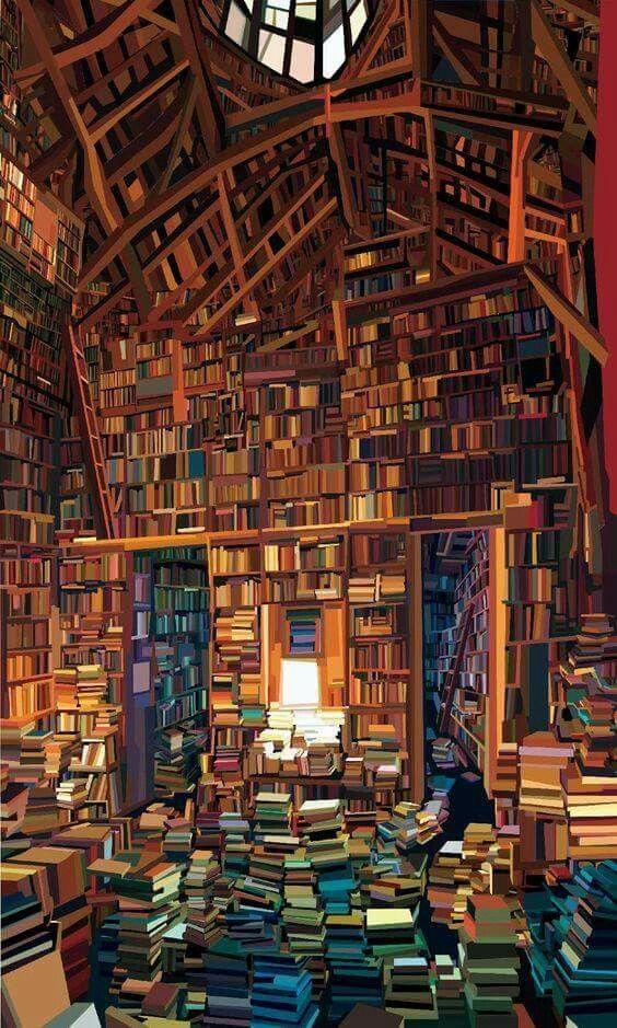 Wie Terry Pratchett sagte: Bibliotheken krümmen Raum und Zeit. Hier der Beweis. - #Beweis #Bibliotheken #der #hier #krümmen #library #Pratchett #Raum #sagte #Terry #und #Wie #Zeit