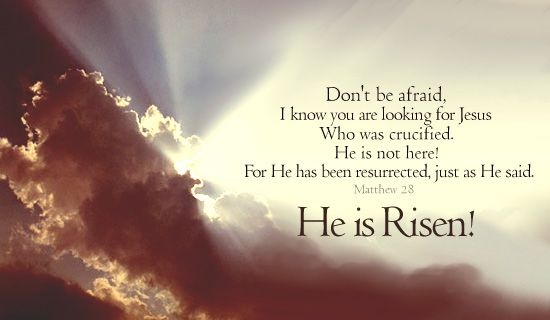He has Risen indeed!: