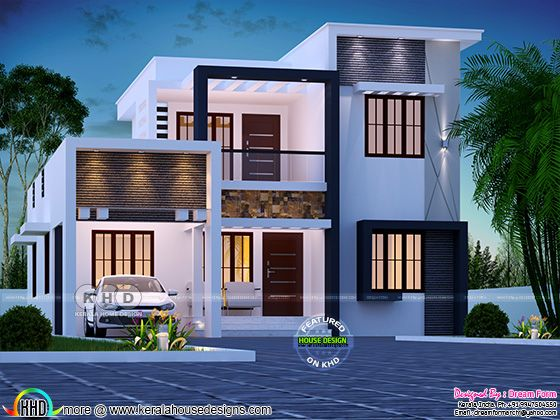 Step Roof Home In 1800 Square Feet Duplex House Design Architect Design House Small House Elevation Design