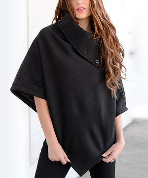 Look what I found on #zulily! Black Oversize Cowl Neck Sweater by The Wholesale Fashion Square #zulilyfinds