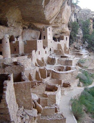 Cliff dwellings, Mesa Verde National Park, Colorado - a UNESCO World Heritage Site