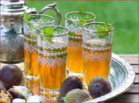 I adore Moroccan tea sets - the glasses are so beautiful, as well as the teapots  loveoftea:    Moroccanmint tea.