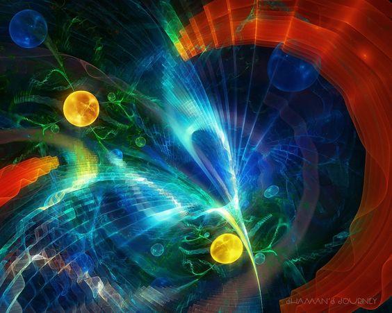 1280x1024 Обои фрактал, воображение, красочный, дым