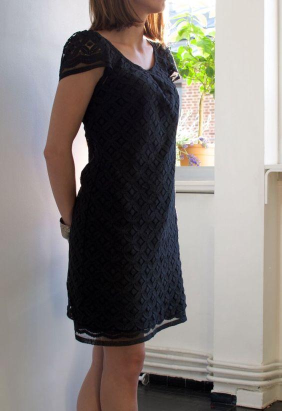 couture robe noire - tuto à partir de la petite robe de vanessa pouzet
