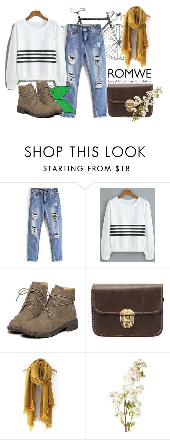 """""""Romwe"""" by arohii ❤ liked on Polyvore featuring Lauren Ralph Lauren and OKA"""