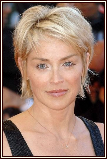 Sharon Stone Short Hairstyle PicturesPicture Reference, Eye Makeup