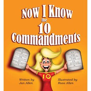 This is a great book to memorize the 10 Commandments!  It has the Commandment number hidden in a picture