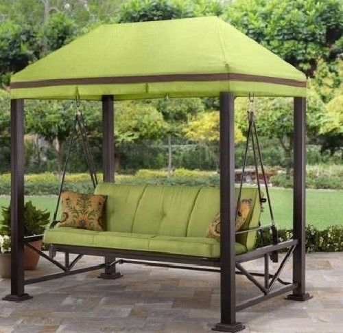 Gazebo Pavilion Swing Chair Bed With Canopy Garden Patio Outdoor