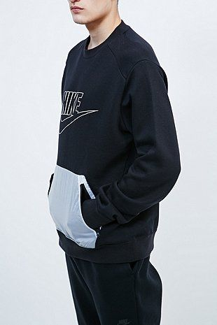 nike air force de 1 mi premium - Nike Hybrid Flc Sweatshirt in Black - Urban Outfitters | Men ...