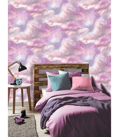 Diamond Galaxy Cloud Glitter Wallpaper Purple And Pink Arthouse 260009 Glitter Wallpaper Bedroom Wallpaper Bedroom Galaxy Bedroom