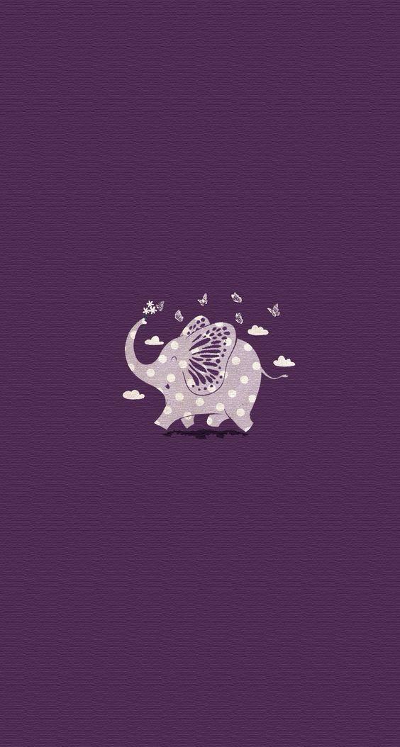 Elefante fofo. Ilustração violeta | roxo | lilás | purple | Elephant #Wallpaper #Background #Patterns #Print #PapelDeParede #Desenhos #Ilustrações: