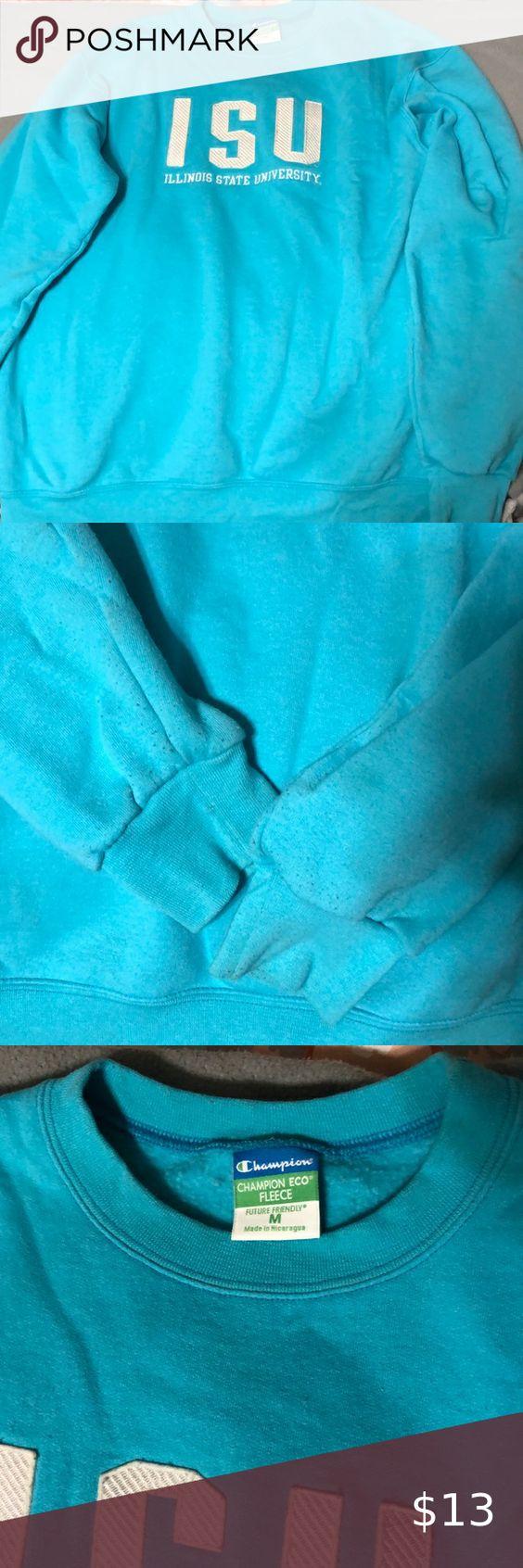 Bright Blue Isu Crewneck Sweatshirt Tops Sweatshirts Hoodie Champion Tops [ 1692 x 564 Pixel ]
