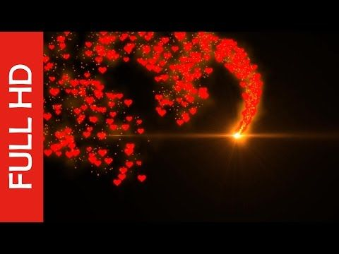 Love Shape Animation Best Heart Particles Effects Youtube Iphone Background Images Green Background Video Free Video Background
