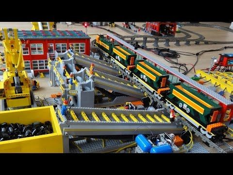 Automated Lego train track: how it works video - YouTube | Lego ...
