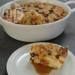 Simple no fuss bread and butter pudding @ allrecipes.co.uk- added 1 small apple and everyone loved it!