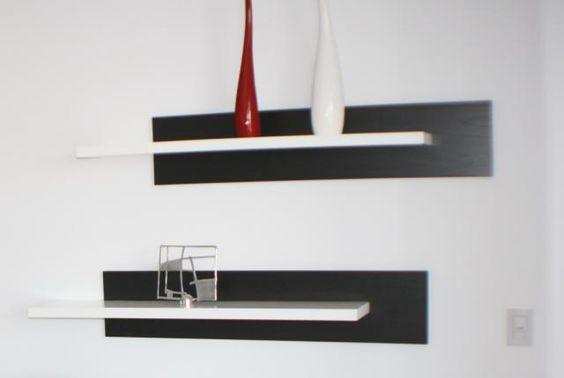 Estantes flotantes cubos estante flotante con fondo for Estantes modernos