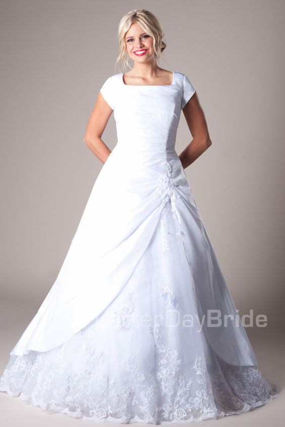 Latter day bride latter days and modest wedding dresses for Latter day wedding dresses