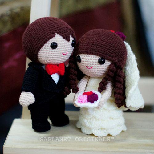 Best-seller projeto da boneca de casamento - Jake & Fiona.  Disponível em estoque pronto.