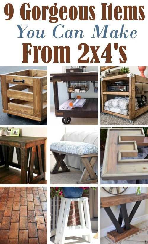 9 Amazing Projects Using 2x4 S Easy Woodworking Projects Wood