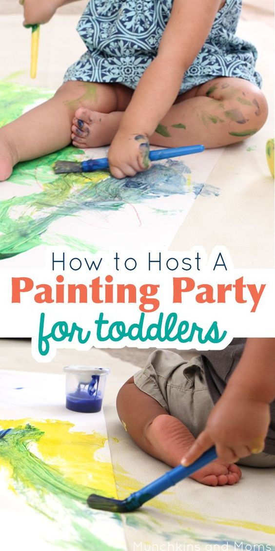 Painting parties mommy and me and toddlers on pinterest for How to be a good party host