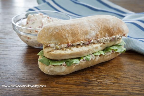 Chicken Panini Sandwich with Roasted Pepper and Green Olive Spread # ...