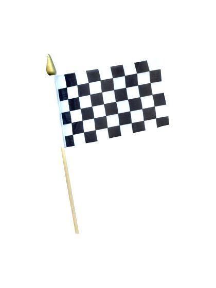 Race Car Checkered Flag - Decorations & Party Supplies