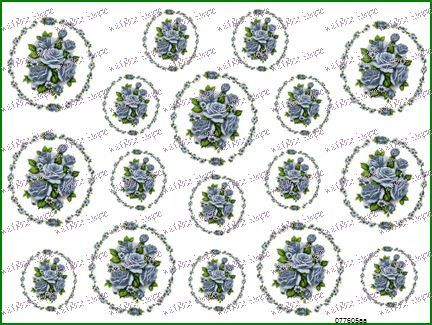 GorGeouS BLuE RinGs Of RoSeS CaMeoS ShaBby ChiC DeCALs | Designs by Iris