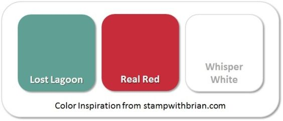 Stampin' Up! Color Inspiration: Lost Lagoon, Real Red, Whisper White: