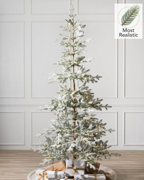 Frosted Alpine Balsam Fir Tree This Artificial Christmas Tree Is Spars Frosted Christmas Tree Balsam Hill Christmas Tree Realistic Artificial Christmas Trees