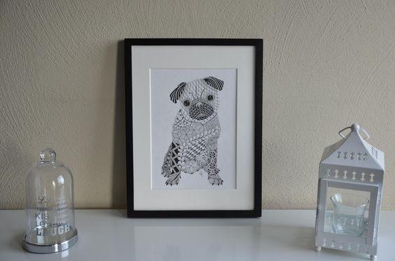 Tier Portrait / individuelles Wunschportrait von CoFoNo auf DaWanda.com