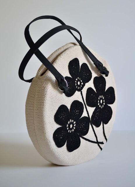 Receitas de Crochet: Bolsa de crochet redonda