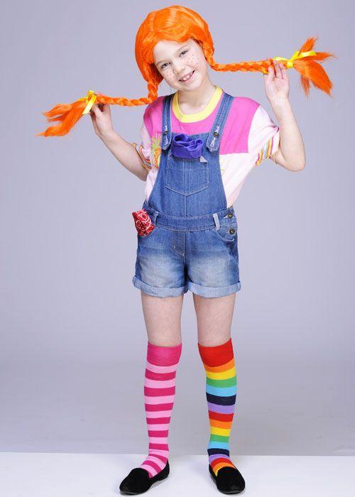 Pippi Childrens Dressing-Up Wig