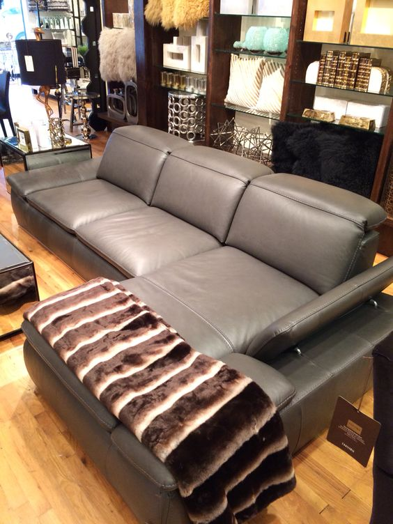 Boulevard leather sectional #zgallerie