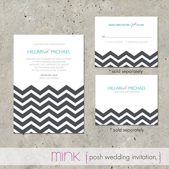 Wedding Invitation Suite  Posh by minkcards on Etsy, $96.00