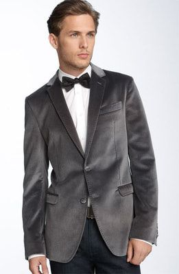 DKNY Black Velvet Slim Fit Sport Coat | Blazers for men Shopping