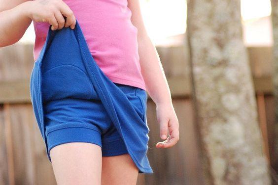 T-Shirt to Shorts/Skort - FREE instant download PDF sewing pattern