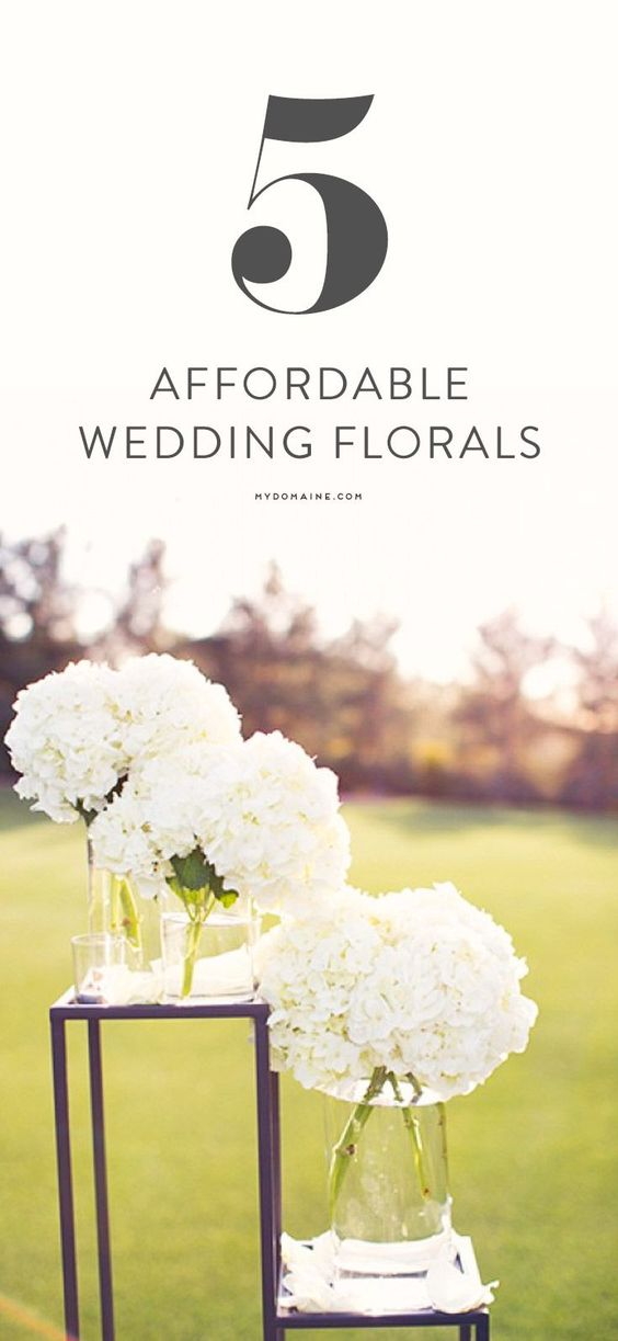 Affordable florals for your wedding // budget, flowers