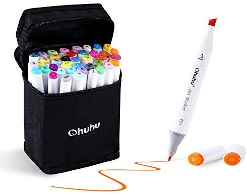 40 Colour Marker Pen Twin Tip Touch Graphic Art Sketch Broad Fine For Copic Pen