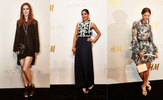 H&M Store Opening in München mit Jessica Schwarz, Lena Meyer-Landruth und Freida Pinto