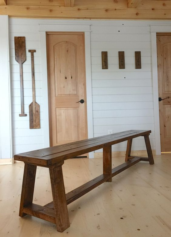 Ana white build a 2x4 truss benches for alaska lake for 2x4 furniture plans free