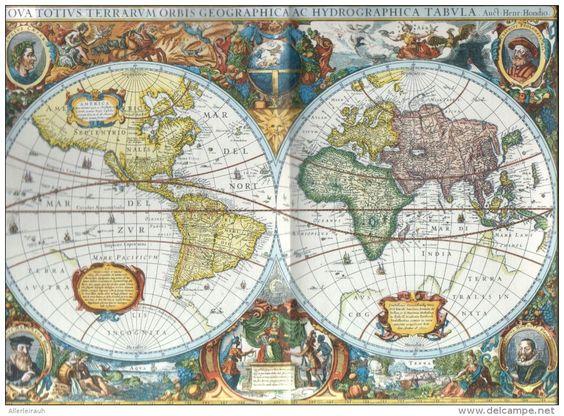 Druck: alte Weltkarten  / entnommen aus Westermanns Monatshefte