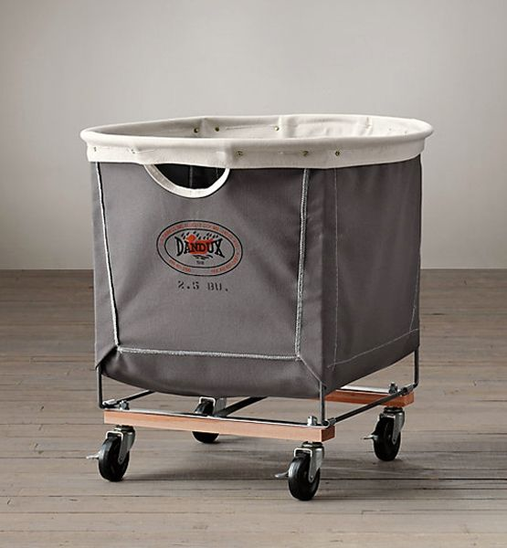 Made in the USA by the same company that's been manufacturing laundry carts for hotels and the U.S. government since 1918, these industrial-grade canvas baskets on casters makes it easy to roll a mountain of laundry to and from the machine.