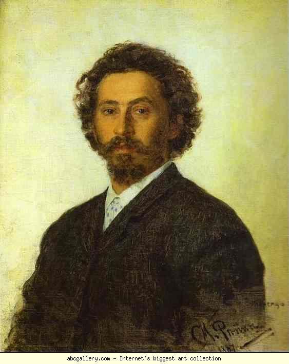 'Zelfportret', 1887 / Ilja Repin (1844-1930)   / Tretjakovgalerij, Moskou, Rusland.