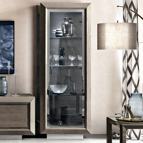 Elisio Silver Birch 1 Door Display Cabinet Italian Furniture Display Cabinet Furniture Maker