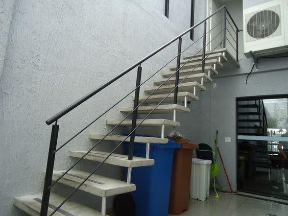 escadas de concreto pre moldada reta