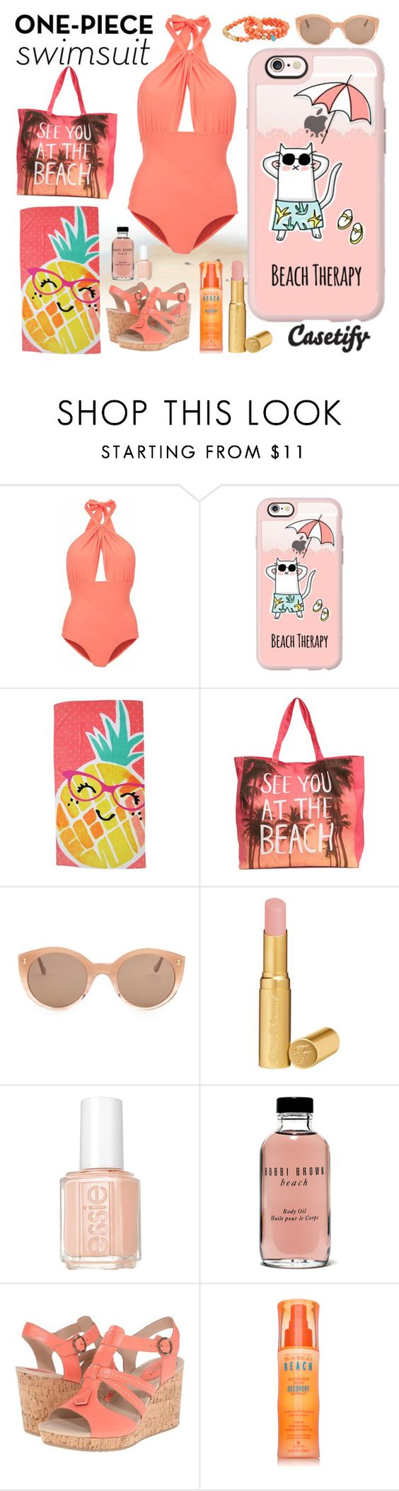 """""""Feeling BEACHY"""" by casetify ❤ liked on Polyvore featuring Lilliput & Felix, Casetify, Evergreen, Illesteva, Too Faced Cosmetics, Essie, Bobbi Brown Cosmetics, Sperry, Alterna and Dee Berkley"""