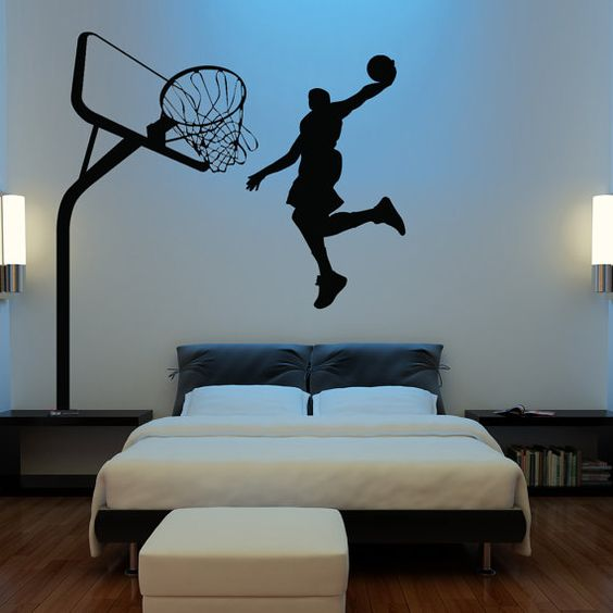 HUGE Basketball Wall Decal Decor Art Stickers By