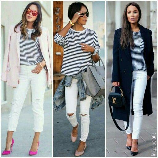White Jeans Combination - Jean Dit