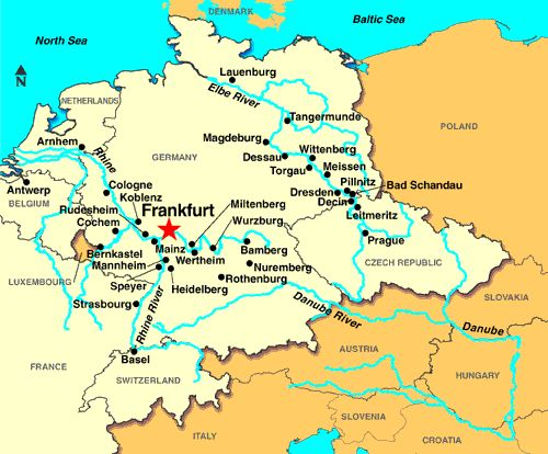 Frankfurt Germany Map Map ...